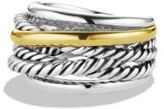 David Yurman Crossover Narrow Ring with Gold