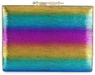 M2Malletier Rainbow Box Clutch