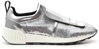 Sergio Rossi Sequin Slip On Sneakers
