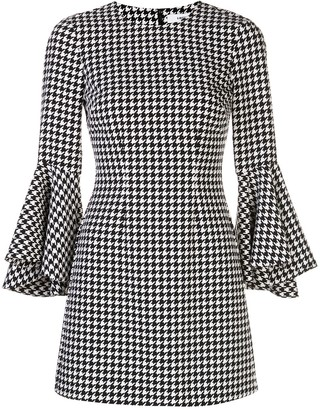 LIKELY houndstooth-print mini dress