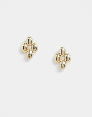 And other stories & layered stud earrings in gold