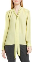 Vince Camuto Women's Long Sleeve Tie Neck Blouse