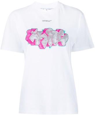 Off-White graffiti-print T-shirt