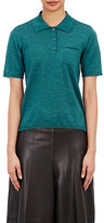 Maison Margiela Women's Knit Polo Shirt-TURQUOISE