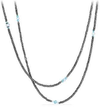 David Yurman Mustique Beaded Necklace With Hematine, Turquoise And