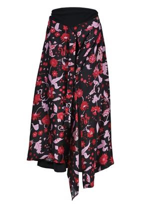 Ellery Floral Shock Waves Skirt
