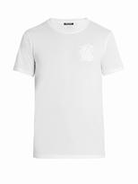 Balmain Logo-embroidered short-sleeved T-shirt