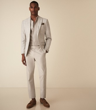 Reiss Deeper - Slim Fit Blazer in Light Grey