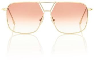 Victoria Beckham Double Bridge navigator sunglasses