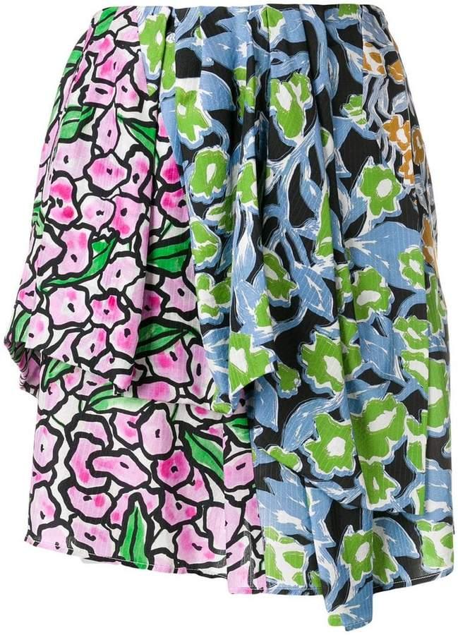 Christian Wijnants floral patchwork skirt
