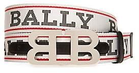 Bally Men's Iconic Buckle Mirror Adjustable & Reversible Logo Belt