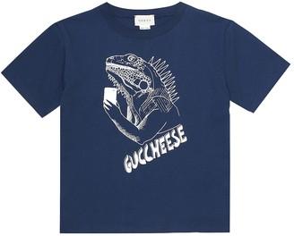 Gucci Kids Guccheese cotton T-shirt
