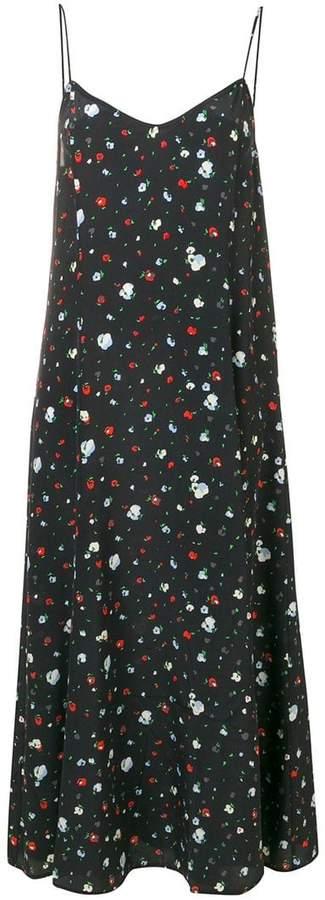 Ganni floral flared midi dress