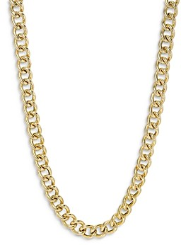 Zoe Lev 14K Yellow Gold Large Curb Link Chain Necklace, 16