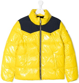 Tommy Hilfiger Junior TEEN quilted high-shine coat