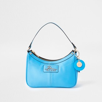 River Island Womens Blue scoop shoulder handbag