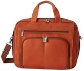 Kenneth Cole Reaction Out of the Bag - 5 to 6 1/2 Double Gusset Expandable Top Zip Portfolio Computer Case (Cognac) Computer Bags