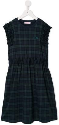Familiar Checked Midi Dress
