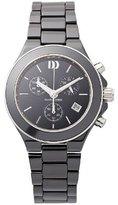 Danish Design Women's 36mm Black Ceramic Band & Case S. Sapphire Quartz Chronograph Watch IV64Q874