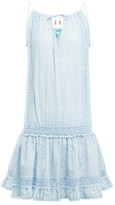 Melissa Odabash Chelsea Embroidered Cotton Mini Dress - Womens - Blue Print