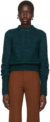 Chloé Green Alpaca and Silk Sweater