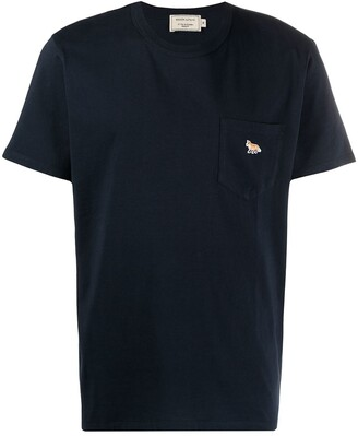 MAISON KITSUNÉ logo-patch short-sleeved T-shirt