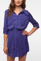 Silky Utility Shirtdress