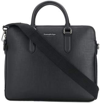 Ermenegildo Zegna logo plaque laptop bag