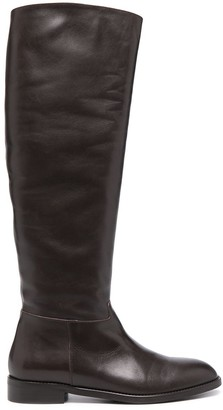 Paul Warmer Knee-High Leather Boots