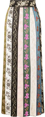 Dolce & Gabbana Long Patchwork Ribbon Skirt