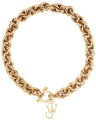 J.W.Anderson Gold-plated chain choker