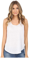 Heather Linen Scoop Tank Top