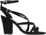 Schutz strappy block heel sandals - women - Leather/Suede/rubber - 37
