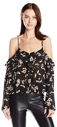 Lucca Couture Women's Cold Shoulder Scallop Edge Print Dress