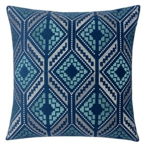 Homey Cozy Lucy Embroidery Square Decorative Throw Pillow