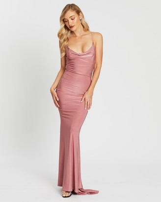 Missguided Slinky Cowl Neck Maxi Dress