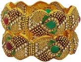Matra Goldtone Ethnic Bollywood Screw Lock Kada Bangle Set Designer Wedding Jewelry