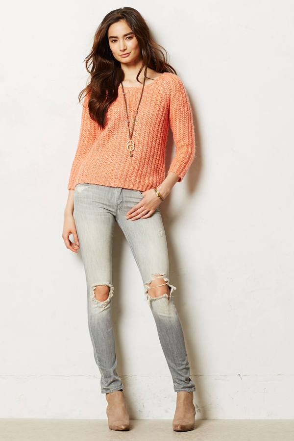 Anthropologie Mother Looker Destroyed Jeans