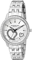 Stuhrling Original Women's 739.01 Amour Aphrodite Elite Analog Display Swiss Quartz Silver Watch