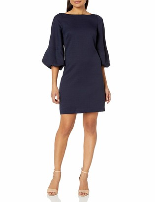 Eliza J Women's Shift Dress with Puff Sleeves