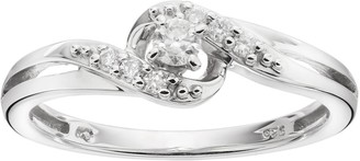 I Promise You Sterling Silver 1/6 Carat T.W. Diamond Bypass Promise Ring