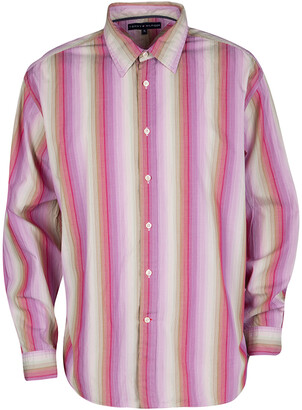 Tommy Hilfiger Multicolor Striped Cotton Long Sleeve Button Front Shirt XL