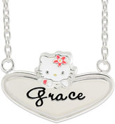 Hello Kitty Personalized Sterling Silver and Enamel Heart Necklace
