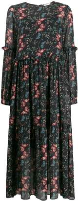 Semi-Couture Semicouture long floral panelled dress