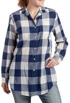 Jag Magnolia Plaid Button-Down Tunic