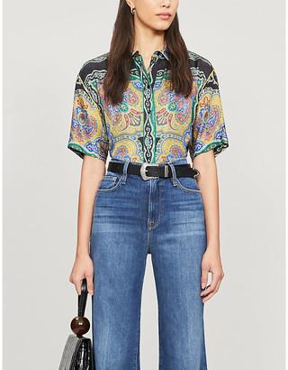 Sandro Ramy paisley-print satin shirt