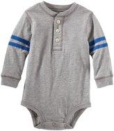 Osh Kosh Henley Bodysuit (Baby) - Heather-3 Months