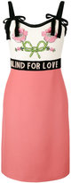 Gucci Blind For Love dress - women - Silk/Polyamide/Acetate/glass - 38