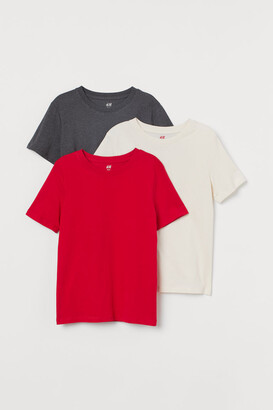 H&M 3-pack T-shirts - Red