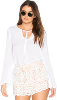 Bella Dahl Tie Neck Blouse